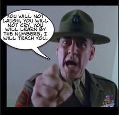 A drill sergeant ridicules a soldier.