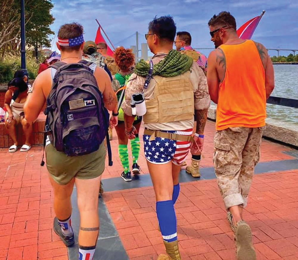 Irreverent Warriors Silkies Hike Atlantic Beach