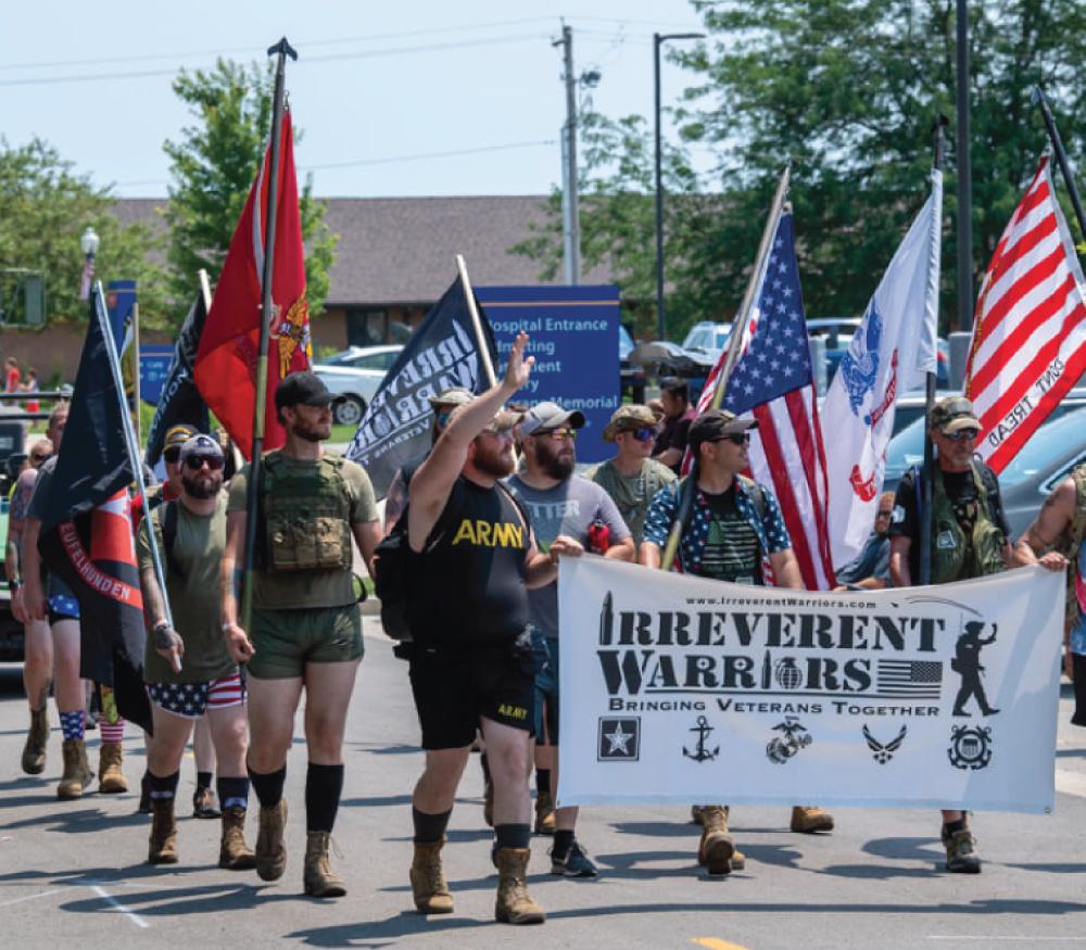 Irreverent Warriors Silkies Hike Hopedale, Illinois